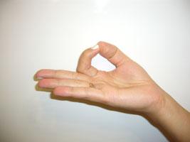 anello con le dita