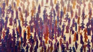 defocused crowd of people --- Image by © Images.com/Corbis