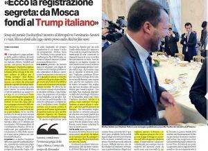 Lega: Salvini per soldi sposta l'Italia ad Est e sta con Putin… rischia così di fare  la fine di Renzi…