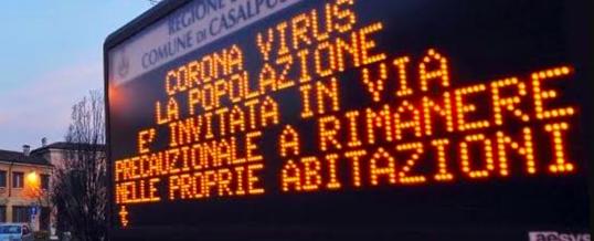 Italia: coronavirus, ma che politica è questa?