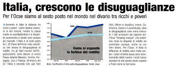 Nel nostro Paese la disuguaglianza è alle stelle, e gli italiani lo sanno…