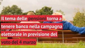 """Pensioni troppo basse"""": le """"menzogne""""  della campagna elettorale"""
